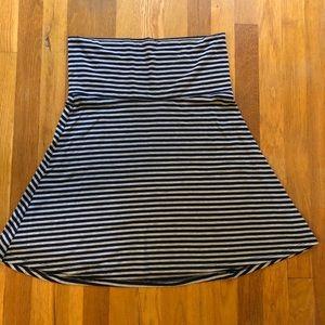 NWOT Striped Pull-on skirt